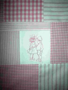 1 Patchworkdecke Nostalgie - Bild vergrößern