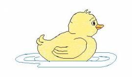 1 Wachlappen Ente - Bild vergrößern